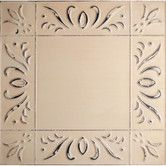 """Found it at Wayfair Supply - 11"""" x 11"""" Metal Hand-Painted Tile in Oatmeal"""
