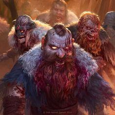 horde of undead dwarves by texahol.deviantart.com on @DeviantArt