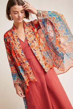 Hayley Mixed Print Kimono | Pattern Kimonos