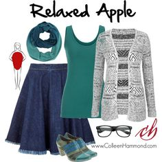 To learn how to dress your Apple Body Type, here are some general guidelines. (For specifics, please check out the Style Academy. Apple Shape Outfits, Apple Shape Fashion, Dresses For Apple Shape, Apple Body Type, Apple Body Shapes, Curvy Fashion, Plus Size Fashion, Fashion Looks, Dressing Your Body Type