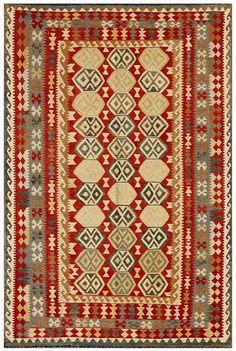 """KILIM HERAT 301x198. Alfombra Kilim Herat. Kilim Herat. Kilim anudado a mano con lana autóctona por las tribus """"turkemanas"""" en el norte de Afganistán. Los diseños utilizados son bellas estilizaciones de formas tradicionales como el """"boteh"""", octogonos, rombos engarzados... Wool Runners, Kilims, Lana, Rugs, Home Decor, Farmhouse Rugs, Creativity, Kilim Rugs, Norte"""