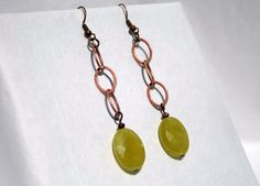 Handcrafted Copper Dangle Earrings by tkmJewelryDesign on Etsy, $22.00