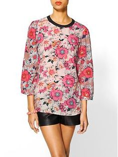 """Piperlime: Tinley Road """"Floral Print Blouse"""" $31.99"""