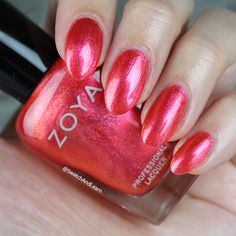 #ZoyaJourney from the Wanderlust Collection is an orange-based red shimmer that will take your #nails on an adventure! (See collection swatches on SwatchAndLearn.com.) #zoyawanderlust #everydayzoya