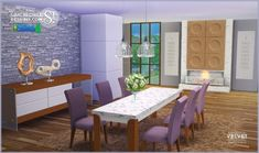 Velvet diningroom at SIMcredible! Designs 4 • Sims 4 Updates