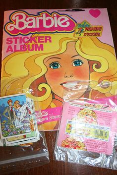 My Barbie Sticker Album from the 80's