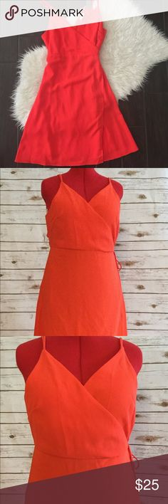NEW Sophie Rue Orange Wrap Double Strap Dress Brand new; never worn Excellent Condition Smoke & Pet Free Home Ships within one day of payment  Thank you for looking Feel free to check out my other items Sophie Rue Dresses Midi