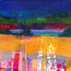 Francis Boag Spring Pond Mixed Media 8x8 | Scottish Contemporary Art