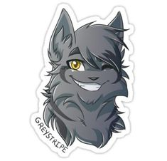 Warriors Stickers - Greystripe Sticker