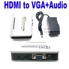Generic PC DVD HDMI to VGA & Audio For HDTV CRT Video Converter Box ...
