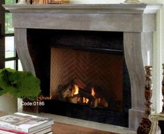 modern stone fireplaces mantels, Toronto, Canada Modern Stone Fireplace, Modern Fireplace Mantels, Stone Fireplaces, Toronto Canada, Home Decor, Decoration Home, Modern Fireplace Mantles, Room Decor, Modern Fireplace