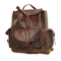 Vintage Leather Backpack from Hands of Industry