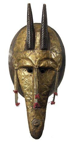 Bamana Marka Metal Plated Mask 17, Mali