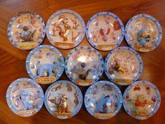Bradford Exchange - Groot lot van 11 Winnie the pooh 3D borden - Catawiki