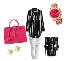 """Spring look"" by ampercentzion on Polyvore featuring beauty, Yves Saint Laurent, Giuseppe Zanotti, Akribos XXIV, celebstyle and polyvoreeditorial"