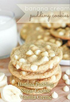 Banana creme pudding cookies