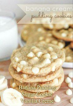 Banana creme pudding cookies