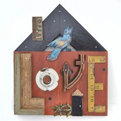 rustic wood typography LOVE architectural by ElizabethRosenArt