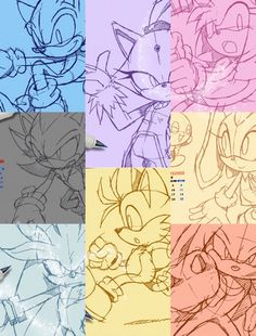 Sonic, Blaze, Shadow, Tails, Cream, Silver, Knuckles, and Amy