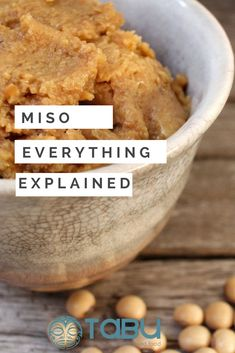 By studying diet and food intensively, I know Miso to be the most important and pivotal food for the Japanese people. Vegan Appetizers, Vegan Snacks, Vegan Dinners, Vegan Soups, Vegan Vegetarian, Sea Vegetables, Veggies, Gluten Free Recipes, Vegan Recipes