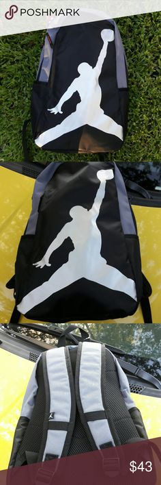 Nike Jordan jumpman backpack NIKE AIR JORDAN Jumpman Backpack School Bag Jordan Logo      SIZE : 20.5'' x 12'' x 8.75''  Jump start your school day by packing your gear up in this JordanTraining Day Pack Backpack.This bag has a 35-liter capacity that allows your child to pack books,folders, lunch and more so you can be prepared for the day ahead.Designed with a side entry laptop and an organizer pocket, this bag provides convenience and versatility. the Jordan Training Day Pack…