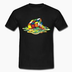 Melting Rubiks Cube T-Shirt as worn by Sheldon.