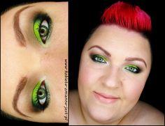 makijaż makeup zieleń neonowe odcienie limonka hean neon hean 976 lime green neon green makeupblogger blog