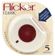 Flicker Razor for Women - was introduced in 1971 and was the first disposable razor designed exclusively for women.
