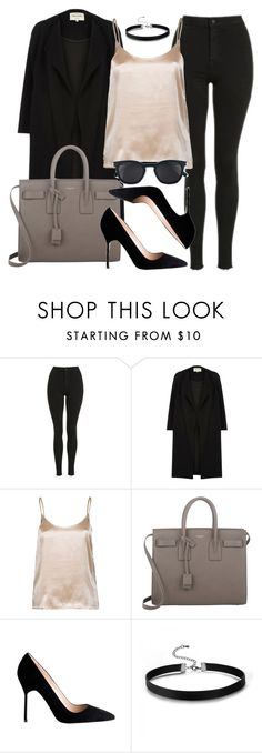 """""""Style #11327"""" by vany-alvarado ❤ liked on Polyvore featuring Topshop, River Island, LnA, Yves Saint Laurent and Manolo Blahnik"""