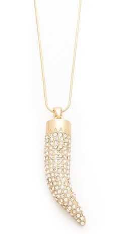 Love this Adia Kibur Horn Necklace - Perfect to throw on with anything, every day!  $60