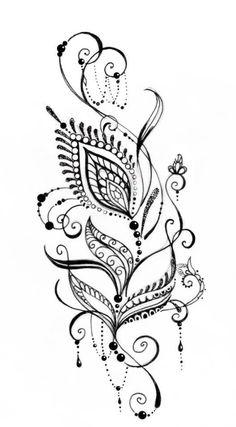 Pfau Tattoo, Simbolos Tattoo, Body Art Tattoos, New Tattoos, Tattoos For Guys, Anklet Tattoos, Feather Tattoos, Flower Tattoos, Henna Designs