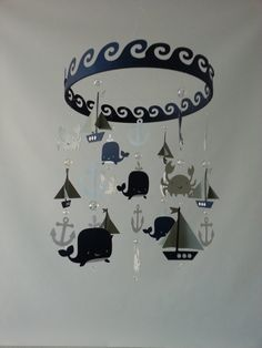 Baby Mobile Sailboat Ocean Creature Sea Baby by magicalwhimsy