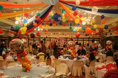 Candyland Theme Party Games balloons on the ceiling