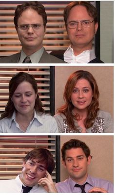 Then and now: Dwight, Pam, & Jim