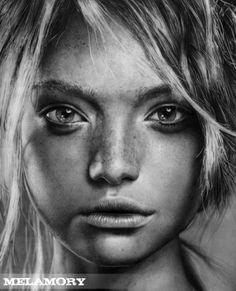 Desenho de Retratos por Olga Larionova