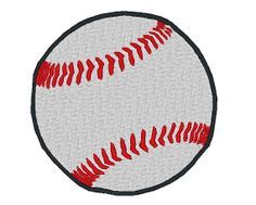 Baseball Embroidery Machine Design by OCDEmbroidery on Etsy, $3.00