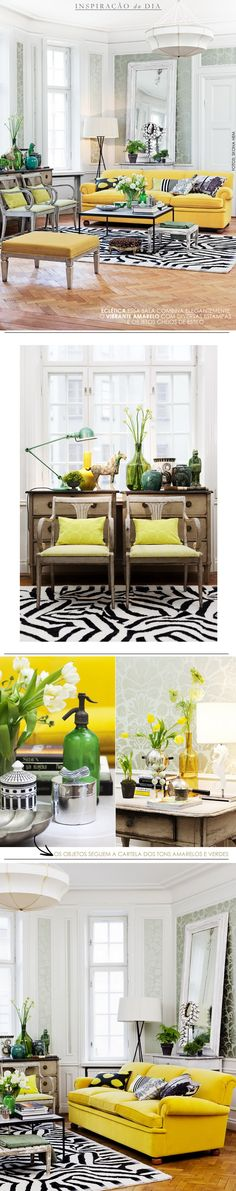 *happy bursts of yellow  living-gazette-barbara-resende-décor-sala-ecletica