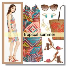 tropical summer by lgb321 on Polyvore featuring polyvore, fashion, style, J.Crew, Vera Bradley, Kendra Scott, Tory Burch and Chloé