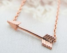 Arrow Necklace Rose Gold necklace Dainty necklace Charm necklace Sale Christmas Gift bridesmaids Gift mom Birthday Gift best friend Birthday