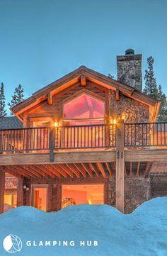 Luxurious Log Cabin Rental by the Ski Slopes in Breckenridge, Colorado