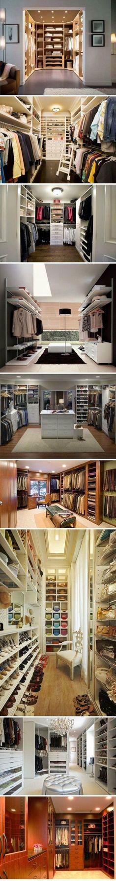 Walk-in closet design Walk In Wardrobe, Walk In Closet, Master Closet, Closet Space, Master Suite, Closet Mirror, Huge Closet, Dream Closets, Big Closets