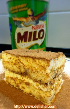 Eggless Milo-tiramisu! | Delishar - Singapore Cooking Blog