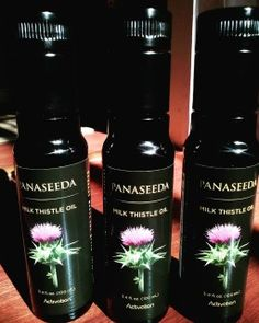 LIMITED QUANTITY! ACT NOW!  This is milk thistle seed oil, cold pressed from organic seeds, a smooth oil that tastes great. You only need 1/2 tsp per day to repair your liver health. Stored in purple Mira Glass naturally preserves the oil from rancidity. This is thousands of times more beneficial than taking milk thistle tincture.   This marvelous product that is NOT even publicly available from Activation Products IS LIMITED IN QUANTITY because this was a one time organic seed…