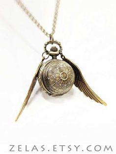 Snitch Brass Pocketwatch Necklace by zelas on Etsy, $25.00  ok so I'm not a huge hp fan but this is way cool