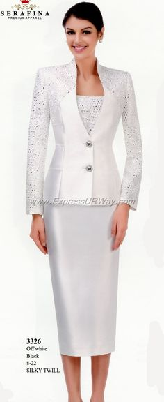 Serafina Womens Suits for Spring 2014 - www.ExpressURWay.com - Serafina, Serafina collections, Serafina Womens Suits, Church Suits, Couture Suits, Spring 2014, ExpressURWay                                                                                                                                                                                 More
