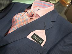 Just in from David Eisele's Master Collection.  Suit, shirt, tie and pocket square.