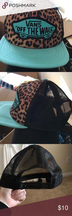 Vans SnapBack hat Teal and cheetah print vans SnapBack. Vans Accessories Hats