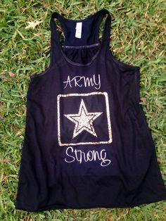 Army Strong Racerback Tank Army wife girlfriend fiancé sister mom on Etsy, $20.00