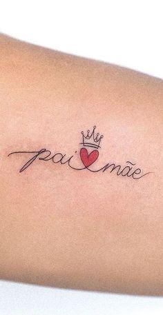 Mommy Tattoos, M Tattoos, Life Tattoos, Small Tattoos, Sleeve Tattoos, Crown Tattoo Design, Inspiration Tattoos, Tattoos For Women, Tatting