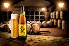 Hirter Kellermeister (Studio) - A new beer in town! Hirter Kellermeister is the newest product of a local brewery. Local Brewery, New Product, Whiskey Bottle, Cheers, Studio, Drinks, Food, Drinking, Beverages